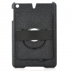 Protective PC Back Case w/ 360 Degree Rotation Hand Strap Holder for Ipad MINI - Black