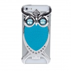 Fashionable Owl Style Protective Back Case for Iphone 5 - Blue + Silver