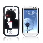 ENKAY Piano Girl Pattern Protective PC Back Case for Samsung Galaxy S3 / i9300 - Multicolor