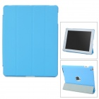 Ultrathin Protective PU Leather Case for iPad 3 / 4 - Blue