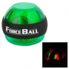 SPT-AL-B Plastic + Silicone Wrist / Fingers / Arm Training Force Ball w/ LED Light - Green + Black