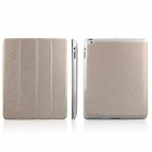 ENKAY ENK-3137 Protective PU Leather Case w/Holder for Ipad 2 / 3 / 4 - Light Golden
