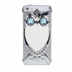 Fashionable Owl Style Protective Back Case for Iphone 5 -White + Silver