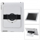 Protective PC Back Case w/ 360 Degree Rotation Hand Strap Holder for Ipad 3 / 4 - White