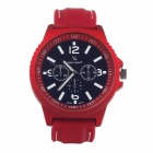 Super speed V0099 Fashionable Quartz Analog Wrist Watch for Men - Red + Black + White (1 x LR626)