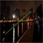 JGB-MTX3 5mW 535nm Verde Raio Laser Pointer Pen w / Star completa Point - Preto (1 x CR123A)