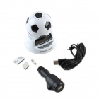 "Cheerlink VTB-66 1.9"" LCD Football Shape Car Bluetooth V2.0 Handsfree Speaker w/ Caller ID - White"