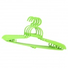 Convenient Multifunctional Plastic Foldable Coat Hanger - Green (4 PCS)
