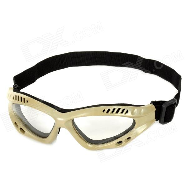 SW306 Outdoor Tactic Sprots / Exercise Protective Goggles - Black + Sand Color sw3069 outdoor tactic sports exercise protective goggles black