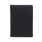 High-Grade Genuine Pigskin Business Card Holder - Black