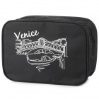 SN001 Travel Camping Leisure Oxford Fabric Makeup Wash Bag - Black