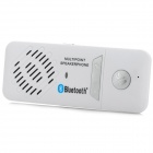 Dual Standby Multi-Point Bluetooth v3.0 + EDR Speakerphone Supports Hands-Free - White + Silver