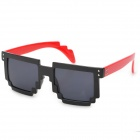 CARSHIRO 77267 Women's UV400 Protection Plastic Frame Resin Lens Sunglasses - Black + Red