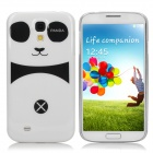 Cute Cartoon Panda Style Protective Plastic Back Case for Samsung i9500 - White + Black