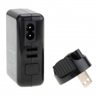 Universal Travel 4-USB-portti AC-virtalähdemittari Iphone + More - musta (US Plug / 100 ~ 240V)