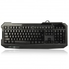 Reicat RK200+ 3-Color Backlight Professional USB Wired 104-Key Gaming Keyboard - Black (140cm-Cable)