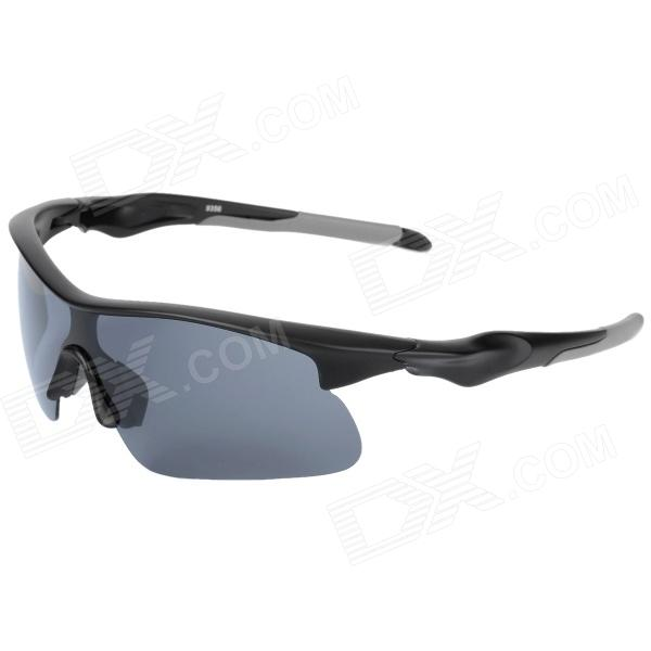 CARSHIRO T9356-3 Outdoor Cycling Polarized Sunglasses w/ Replacement Resin Lens - Black + Grey carshiro 9150 sports riding resin lens polarized sunglasses black grey