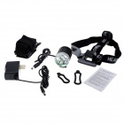 SL-8203 2700lm 4-Mode Branco Bicycle Light & farol w / 3 x Cree XM-L T6 - preto + prata (4 x 18650)