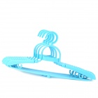 Convenient Multifunctional Plastic Foldable Coat Hanger - Blue (4 PCS)