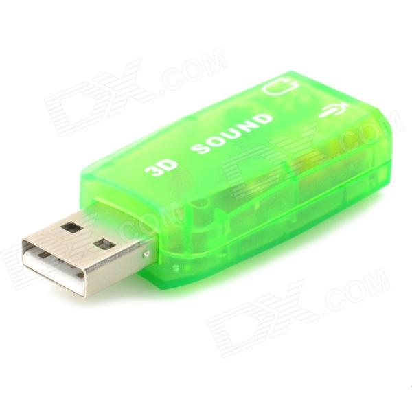 Virtuellt 5.1-Surround USB 2.0 externa ljudkort