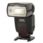 "Travor SL566 2.0"" LCD 5600K Flash Light Speedlite for Canon / Nikon DSLR Camera - Black (4 x AA)"