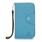 Protective PU Leather Flip-Open Case for Samsung Galaxy Express / i8730 - Blue