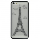 Eiffel Tower Style Protective Plastic Back Case for Iphone 5 - White + Black