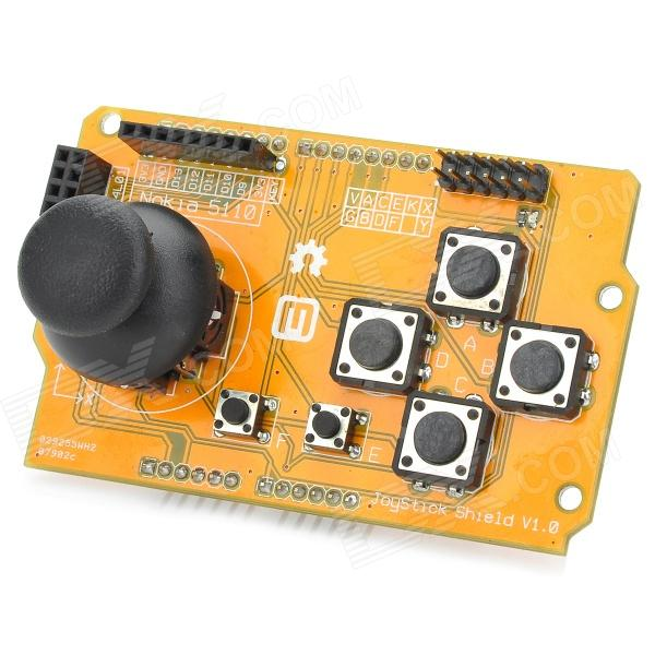Meeeno Joystick Module Shield for Arduino (Works with Official Arduino Boards) - Orange + Black nokia 5110 lcd module white backlight for arduino uno mega prototype