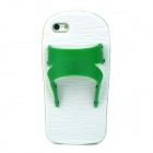 Creative Slipper Style Protective Silicone Back Case for Iphone 5 - Green + White