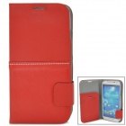 Baseus Genuine Leather + TPU Flip-Open Case for Samsung i9500 / i9580 / i9502 / i959 - Red