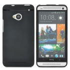 Protective Soft Silicone Back Case for HTC One M7 - Black