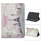 "ENKAY ENK-3323 ""Travel Around the World"" PU Leather Case for Ipad MINI - Multicolor"