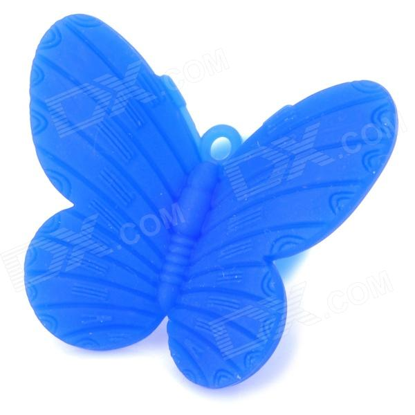 HD-54 Butterfly Style Suction Cup Silicone Stand Holder for iPhone 5 / 4 / 4S / Cell Phone - Blue