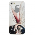 ENKAY ENK-6001A Girl with Wings Style Protective PC Back Case for Iphone 5 - White + Black
