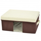 Small Folding Removable Nonwoven Fabric Storage Box - Coffee + Beige