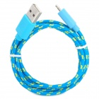 USB to 8-Pin Lightning Data/Charging Nylon Woven Cable for iPhone 5 / iPad 4 / Mini - Blue (100CM)