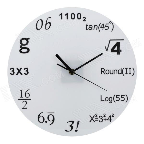 Creative Mathematical Symbol Wall Clock - White + Black (1 x AA)