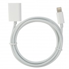 8-Pin Lightning Male to Female Data/Charging Cable for iPhone 5 - White