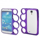 Protective PC Bumper Frame Case w/ Ring Handle for Samsung i9500 - Purple