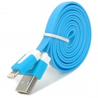 USB 2.0 to 8-Pin Lightning Data / Charging Flat Cable for iPhone 5 / iPad 4 / iPad Mini - Blue