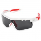 CARSHIRO_9559_Sports_UV400_Protection_Polarized Resin_Lens_Sunglasses_-_White + Red