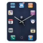 Stylish Tablet Screen Style Quiet Wall Clock - Multicolored