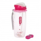 XILE XL-5224 PC Space Automatic Kettle Water Bottle - Deep Pink + White + Transparent (650mL)