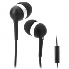 Wallytech WHF-065 In-Ear Earphone for Iphone / Ipad / Ipod / Samsung / HTC - Black + Silver