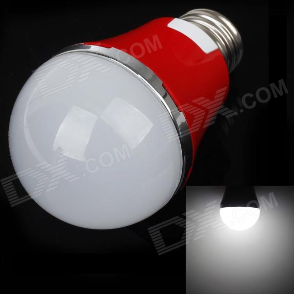 AOXIN AX-2 E27 5W 480lm 5600K 10-SMD 5730 LED White Light Lamp Bulb - Red + White (220V) lexing lx r7s 2 5w 410lm 7000k 12 5730 smd white light project lamp beige silver ac 85 265v