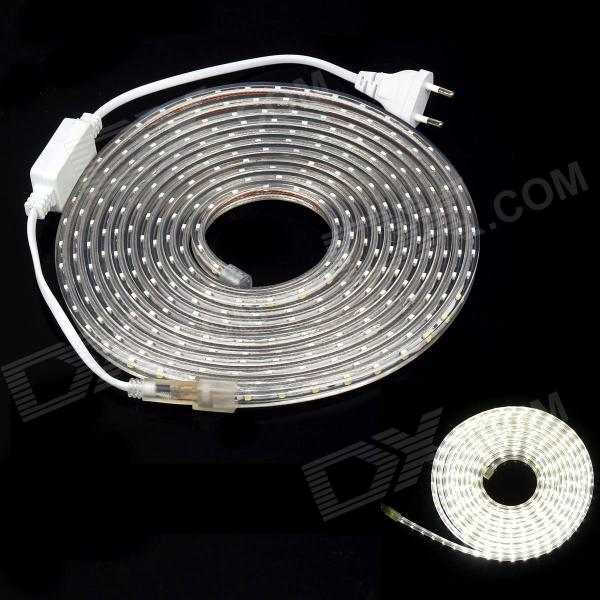 JB01 impermeable 18W 2100lm 5600K 300-SMD 3528 tira flexible de luz LED blanco - (5m / 220V)
