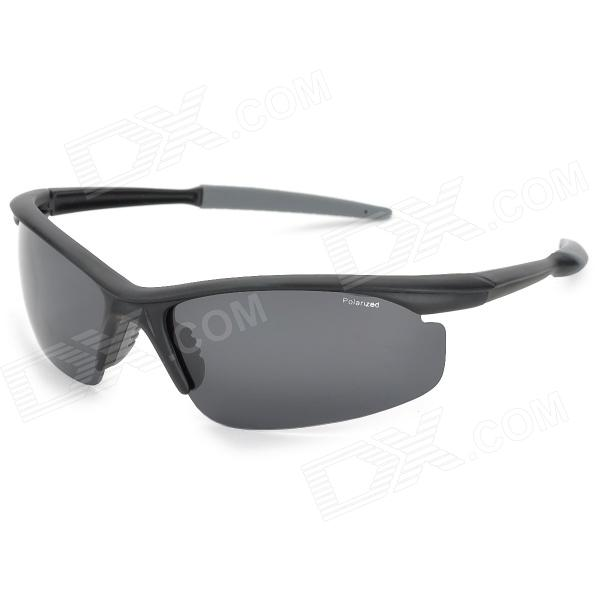 CARSHIRO_9146_Sports_UV400_Protection_Windproof_Polarized Resin_Lens_Sunglasses_-_Black + Grey - DXGoggles<br>Brand CARSHIRO Model 9146 Quantity 1 Color Black Size Free size Gender Mens Frame Color Black Lens Color Grey Frame Material PC Lens Material Resin polarized Frame Height 4.0 cm Lens Width 7.0 cm Overall Width of Frame 14.9 cm Bridge Width 1.5 cm Functions UV400 protection windproof protect your eyes Features Great for outdoor cycling skiing etc. Packing List 1 x Sunglasses 1 x Cleaning cloth 1 x Test card 1 x Case<br>