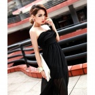 YLY-DXH719-8600 Fashion Sexy Strapless Long Dress - Black