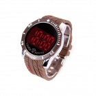 LUWEITE 6003 Fashion Men's Stainless Steel Digital Wrist Watch - Brown (1 x CR2032)