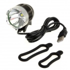 SL-8003 XM-L T6 900lm 3-Mode White Light Bicycle Headlight - Black